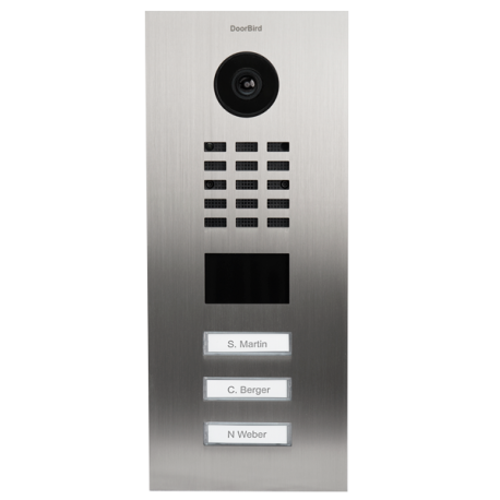 Doorbird Deurbel met Camera en Intercom D2103V, Stainless Steel