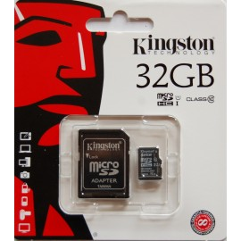 Kingston Secure Digital 32GB Micro + Adapter Class 10