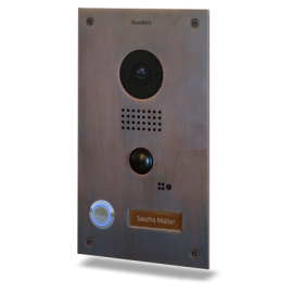 DoorBird D202 Video Deurbel met Intercom, Stainless Steel, Inbouwuitvoering